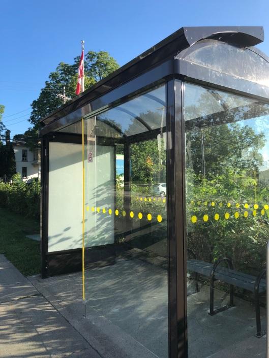 Solar powered tranist shelter