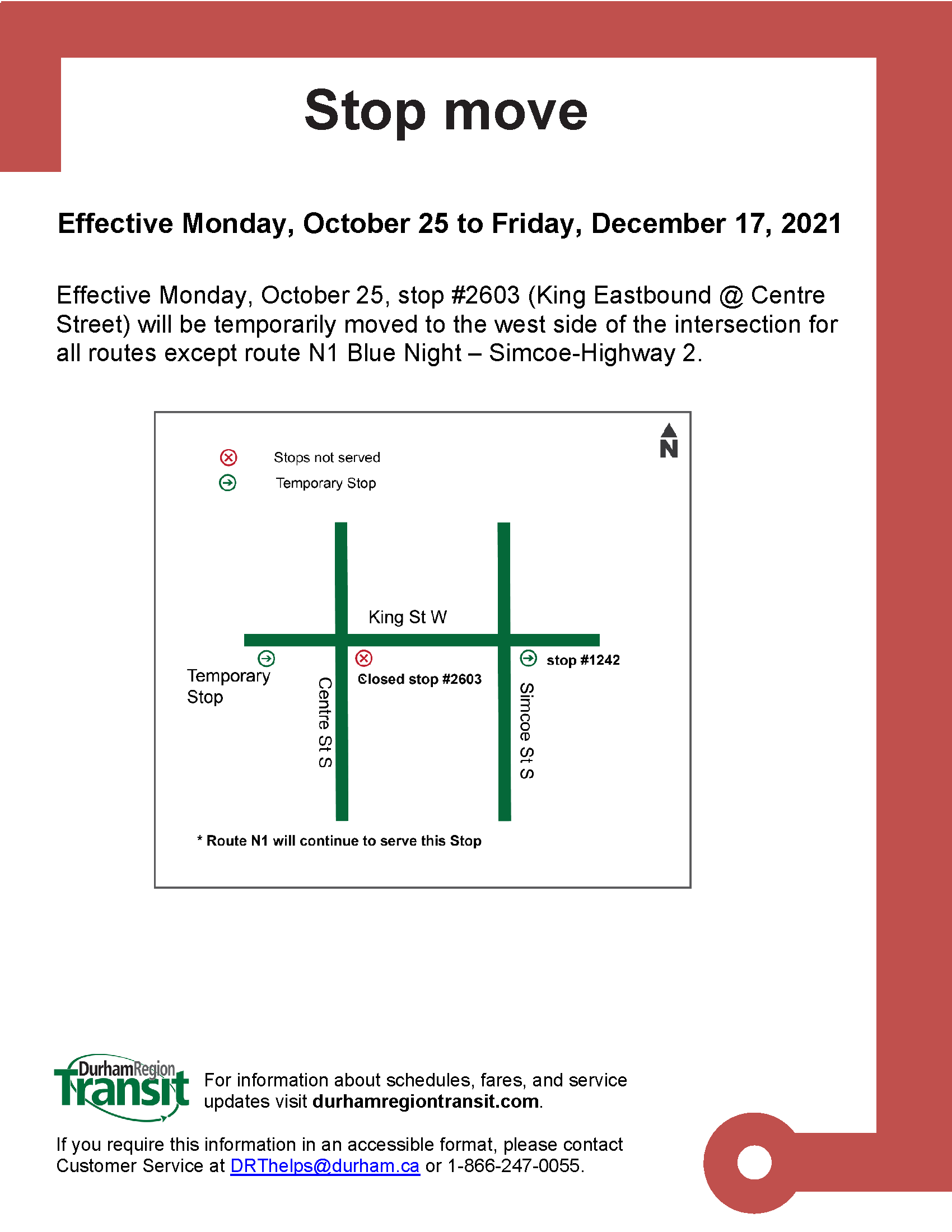 2021-10-25 Stop#2603 King Street Eastbound @ Centre V3