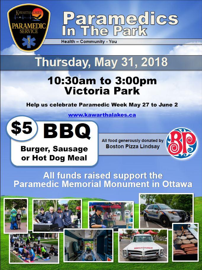 Paramedics In The Park and BBQ Poster