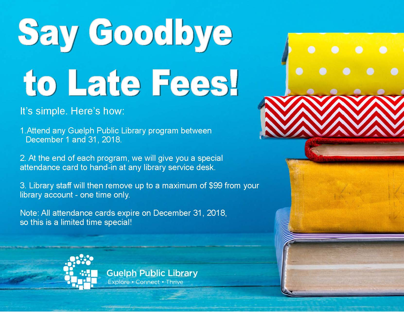Attend a Program to Say Goodbye to Late Fines!