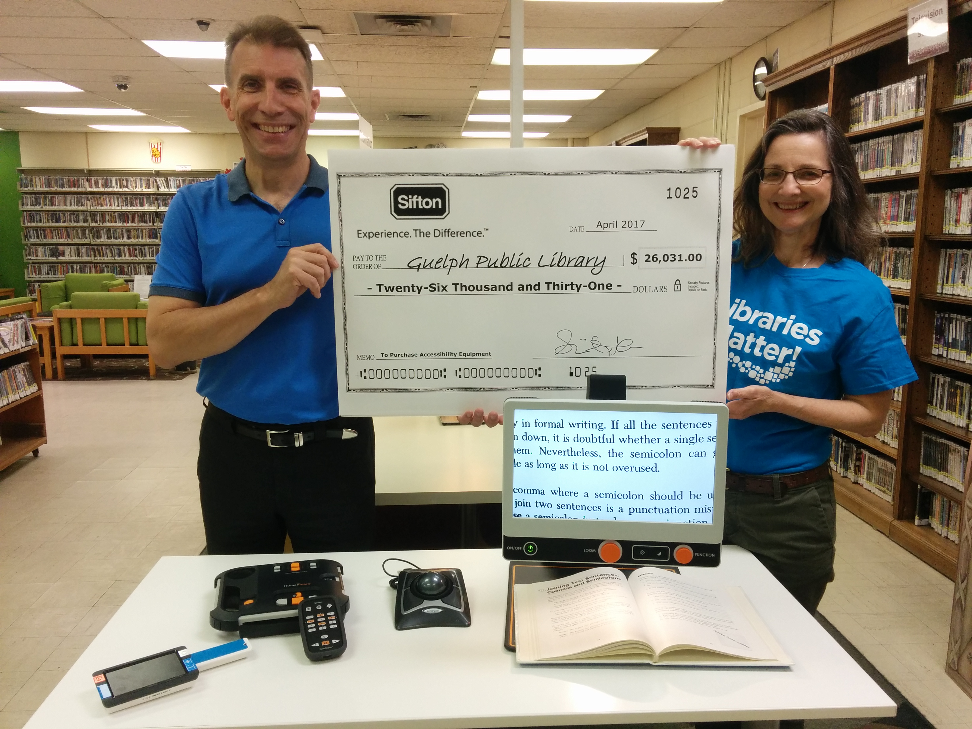 Sifton Family Foundation Cheque