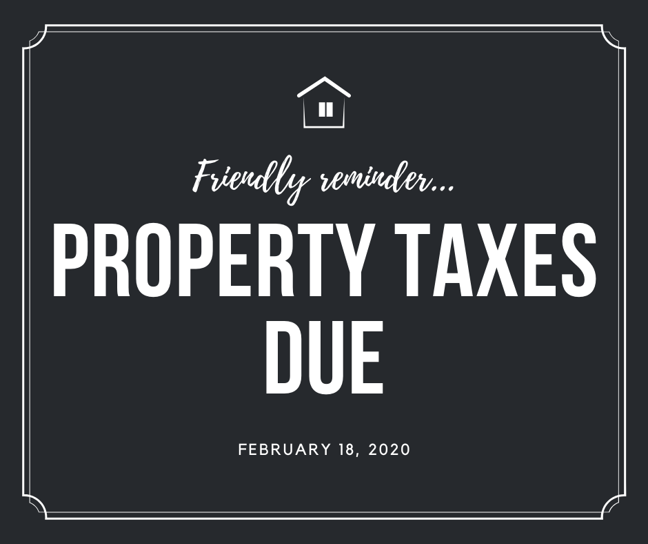 FEBRUARY property tax due facebook ad