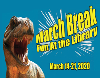 dinosaur image March Break fun at the library