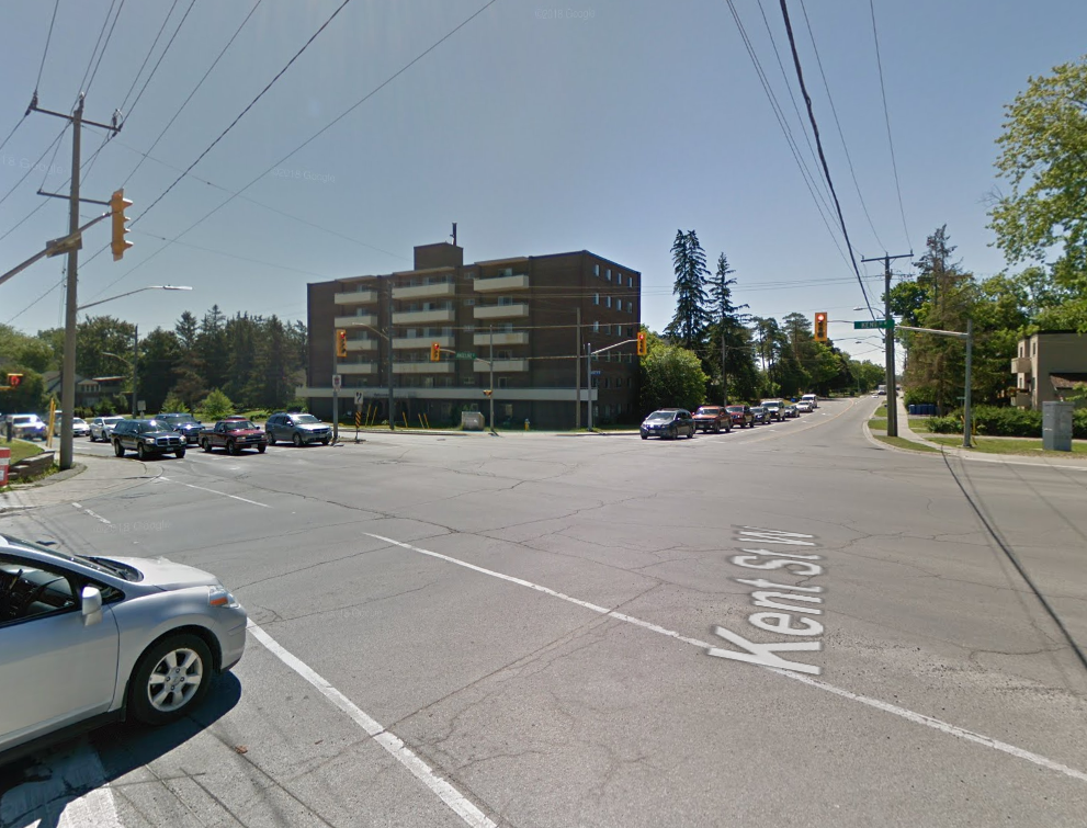 Intersection of Angeline St. and Kent St. West