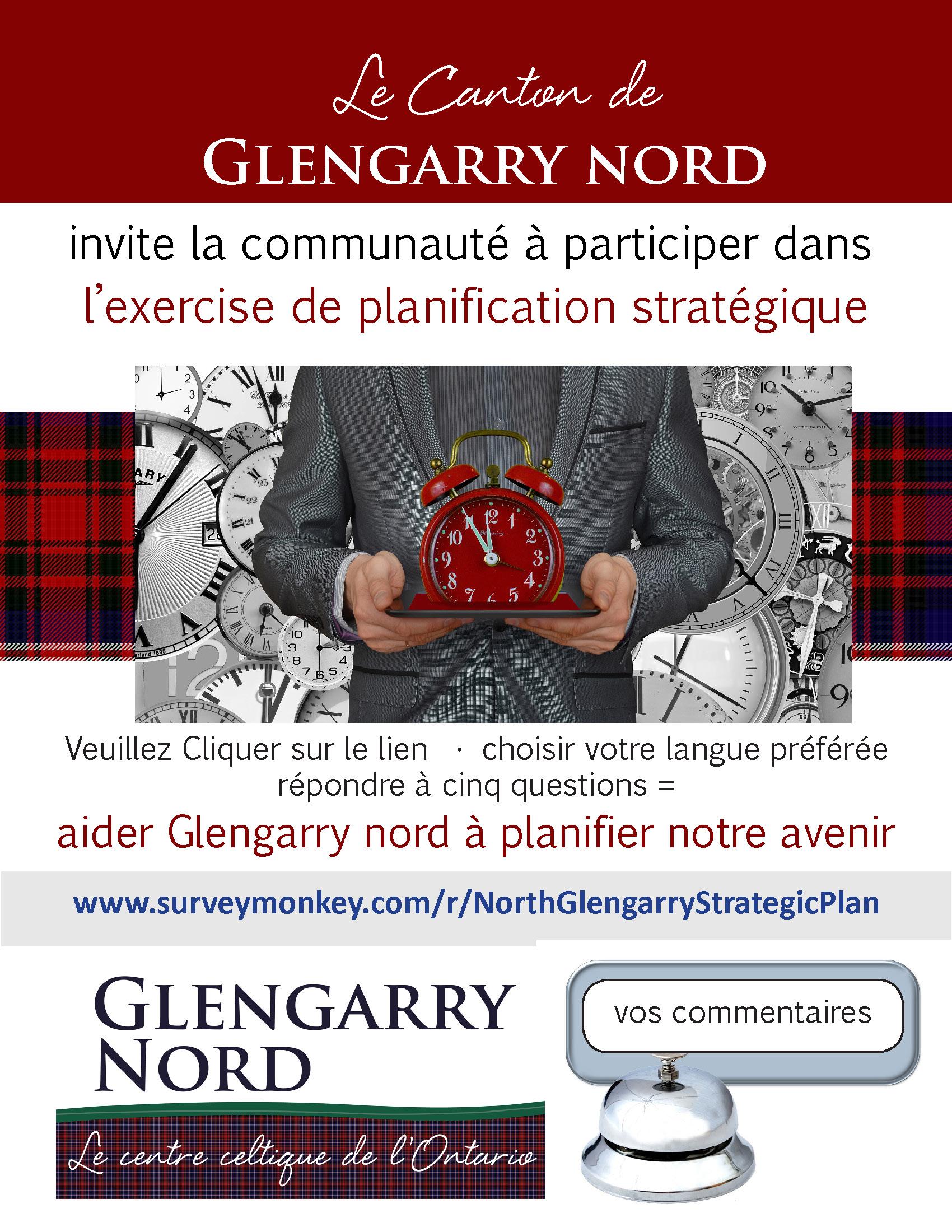 affiche pour l'exercise de plannification stratégique