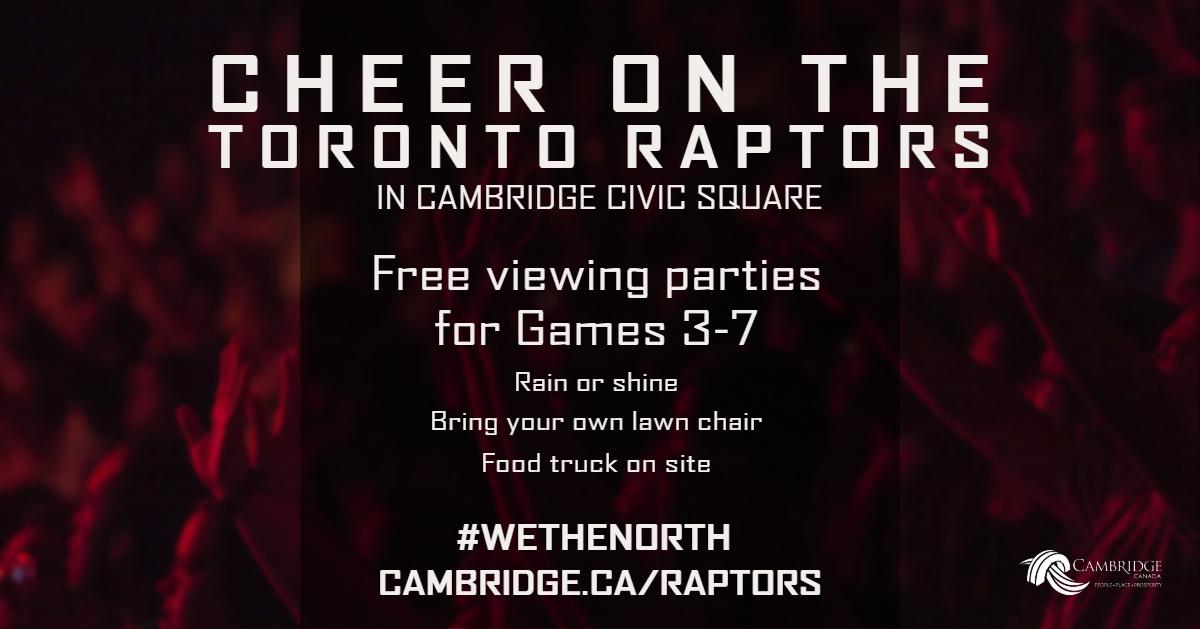 Cheer on the Toronto Raptors