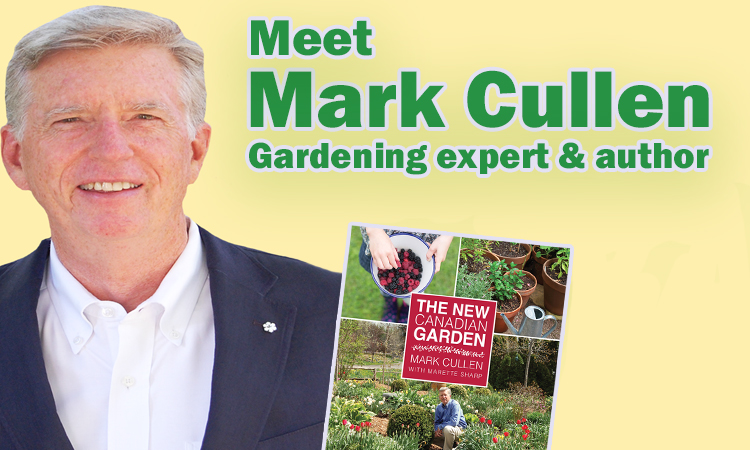 Mark Cullen and cover of his book The New Canadian Garden