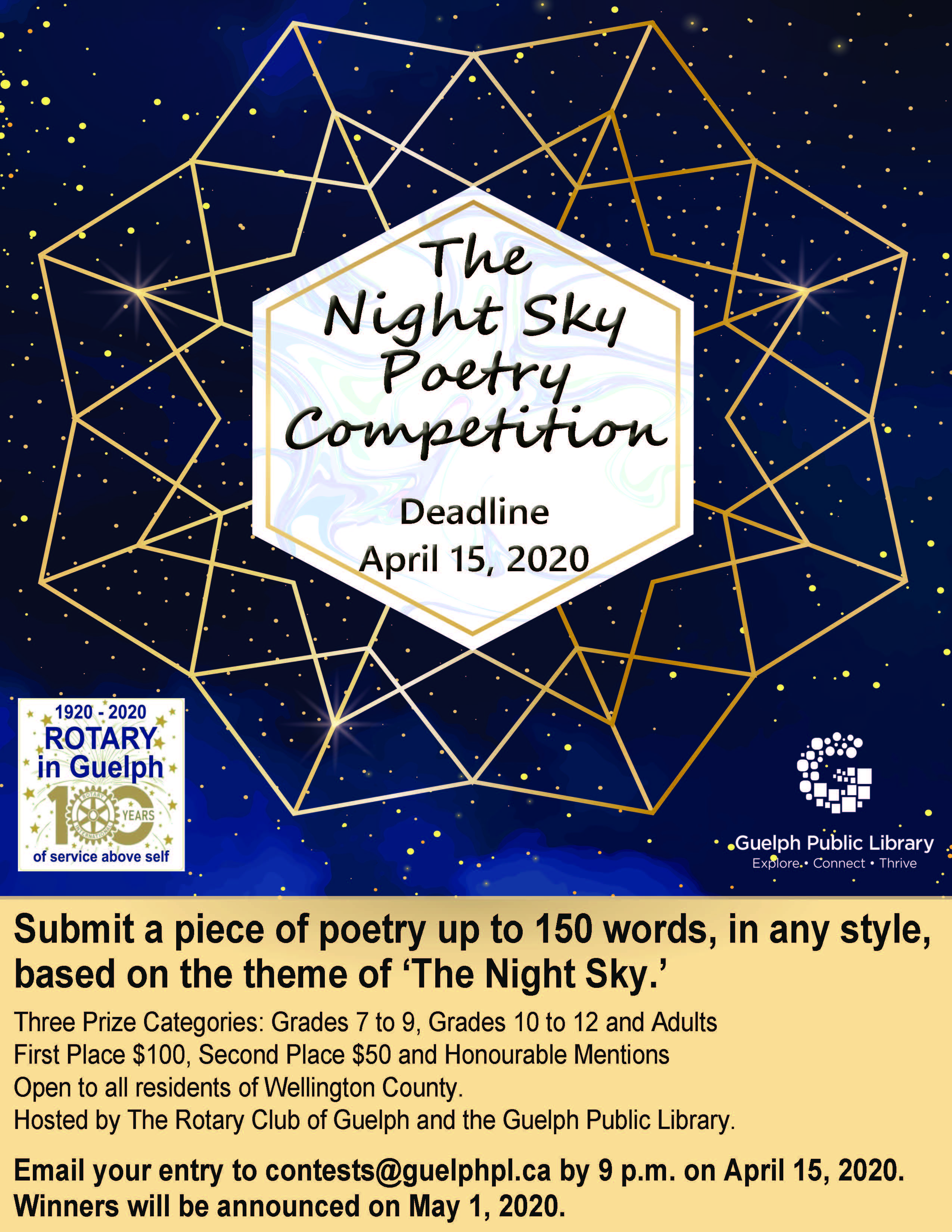 The NIght Sky Poetry Competition
