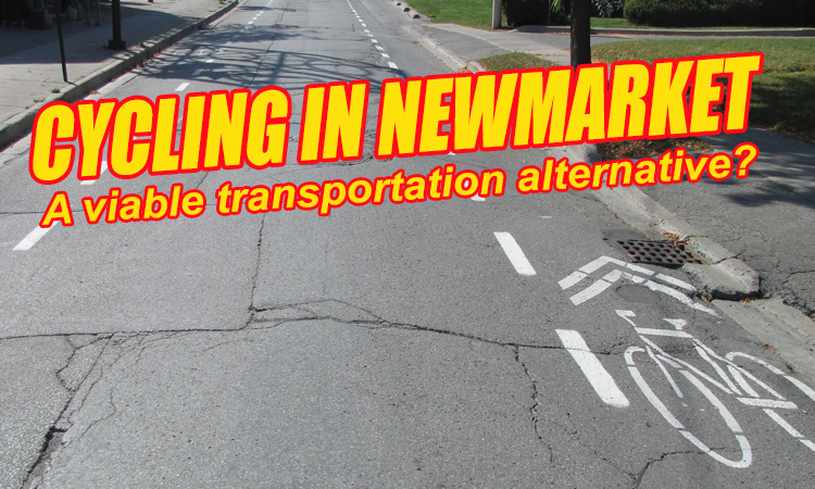 Bike lanes on Millard Road in Newmarket